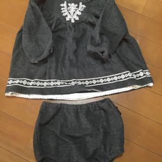 コムサイズム♡80サイズワンピース♡カバーパンツ付き