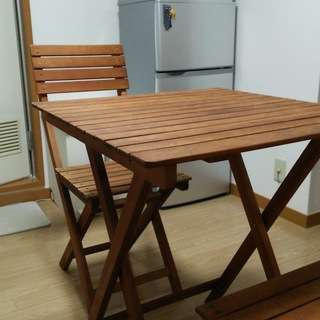 【終了】折りたたみテーブル・チェアセット