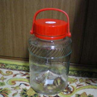 果実酒を作るようのガラス瓶です 保存、漬けておく用