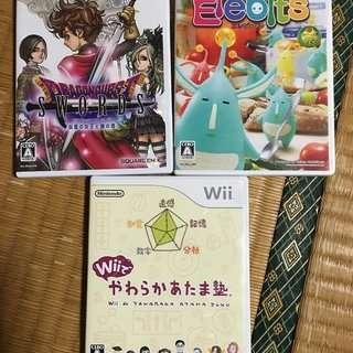 【交渉中】【Wiiソフト】3本セット