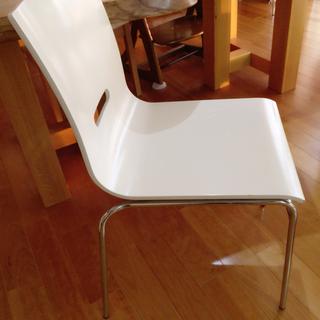ホワイト 椅子 木製 5脚セット