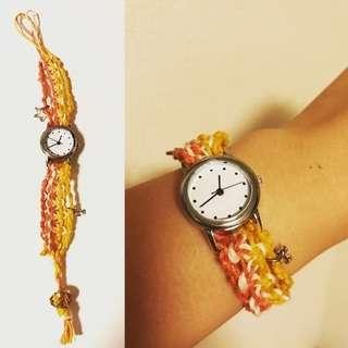 ヘンプの糸使用腕時計