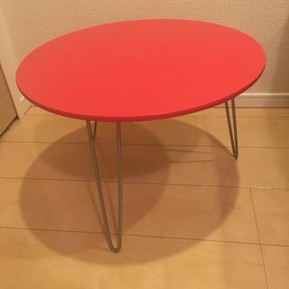 ミニテーブル レッド
