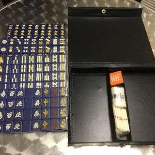 新品 マージャンパイ 麻雀牌 持ち運びに便利な若干小型の麻雀牌  ...