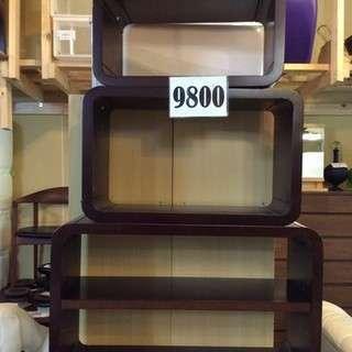 【激安・更に15%OFF中!】木製キューブラック 3点セット
