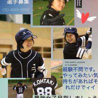 野球好きな女子募集(男子も併せて募集中)