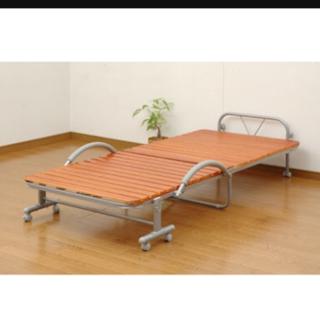 折りたたみ式すのこベッド  シングル