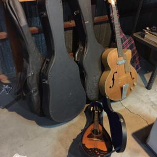 ギター5本にマンドリン