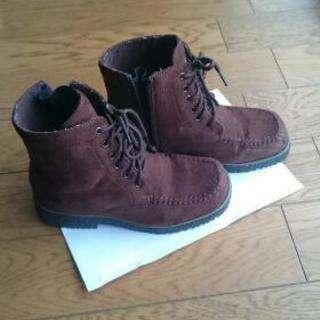 レディース 冬靴Sサイズ  滑り止めつき 茶色