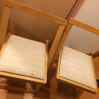 折りたたみ椅子2脚 木製