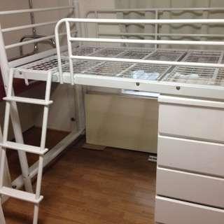 ホワイト ロフトベッド