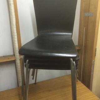 木製椅子 4脚セット