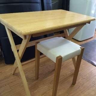 木製 テーブルイスセット 売ります