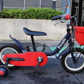 幼児用、補助付き自転車 2歳から4歳