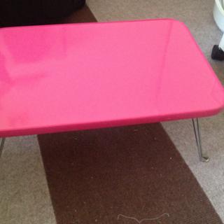 【早め希望】ピンク 折りたたみ ミニテーブル