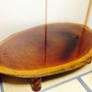 定価30万 一枚岩 木製高級ローテーブル 2万でお譲りします