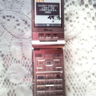 電話代節約したい方必見☆簡単携帯!w62ptシルバー