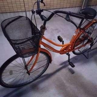 シティサイクル 26インチオレンジ