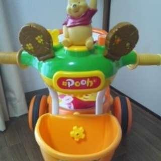 プーさんの三輪車 安全バー付き