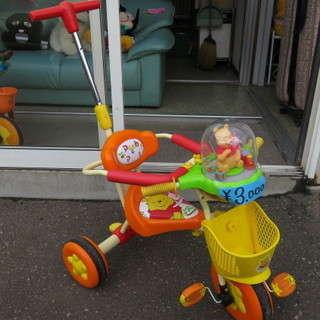 リサイクルショップあげいんです。プーさんのかわいい三輪車です。