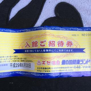 豊の国健康ランド入館招待券