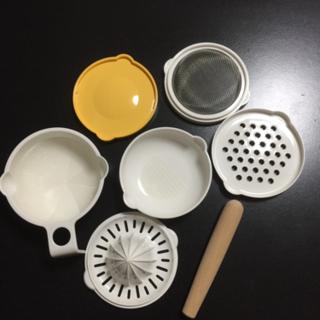 離乳食 調理セット&お出かけ時のスプーンと容器のセット