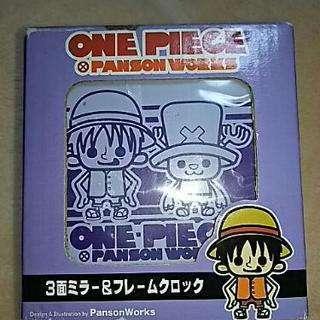 ONE PIECE  3面ミラー&フレームクロック ルフィ&チョッパー