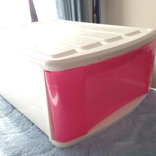 ピンクのプラケース二個【アイリスオーヤマ】