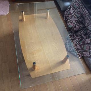 ガラステーブル★リビングダイニングローコーヒーテーブル
