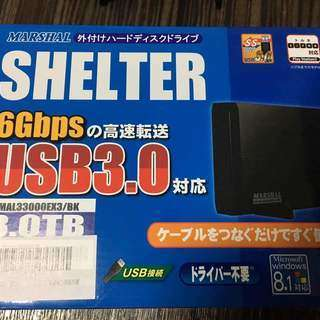 Marshal 外付けHDDハードディスク 3TB 録画可