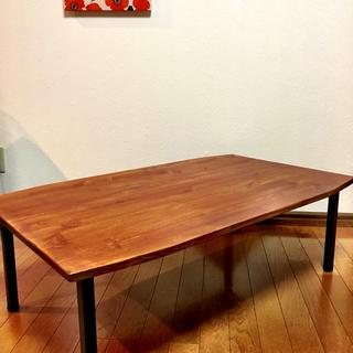 無垢材と鉄脚のローテーブル【受注生産】