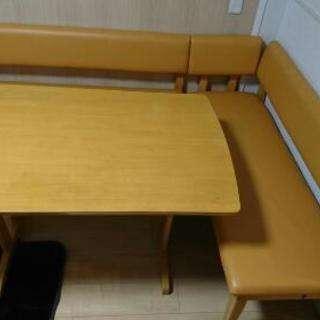 ダイニングテーブル ベンチ二脚セット