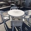 ガーデンテーブル&チェア4脚セット