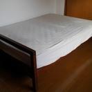 「無印良品ダブルベッド」と「フランスベッド製マットレス」のセット