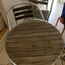 ガーデンテーブル&チェア2脚