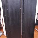 ワンコインに値下げ!棚板 黒い塗装のバンブー(竹)製 5枚(中古)