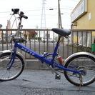 折りたたみ自転車 中古 前輪パンク
