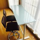 ガラステーブル(椅子付き)