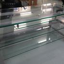 ガラス天板テレビ台