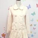 【新品】マイメロコラボ リボンコート クリーム色 内側花柄 Mサイズ