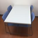 打ち合わせテーブル&椅子4脚セット