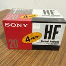 カセットテープ SONY HF20 4巻。