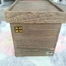(中古品)吸湿性に優れた 天然木の焼桐 米びつ 10kg用