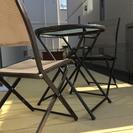 折りたたみ式ガーデンテーブル&チェア2脚セット