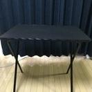 中古小型テーブル黒 分解可能 横75cm縦51cm 高72㎝ 重量...