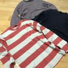 ユニクロ グローバルワーク 長袖Tシャツ 三枚セット M 男性用