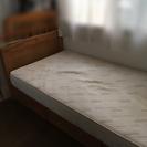 【あげます】収納付きシングルベッド マットレス付き