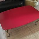 猫脚テーブル☆赤いテーブル、レトロ、コーヒーテーブル