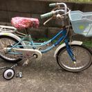 女の子16インチ自転車。