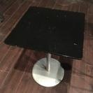 黒いテーブル(50×50×h70cm) 傷アリます、引き取り限定 ...